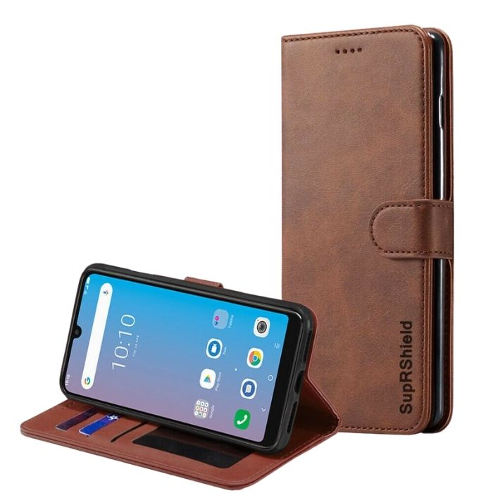 Wallet Case for Telstra Evoke Pro 2-Brown