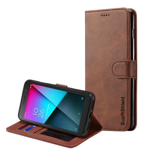 Wallet Case for Vodafone Smart E9 -Brown