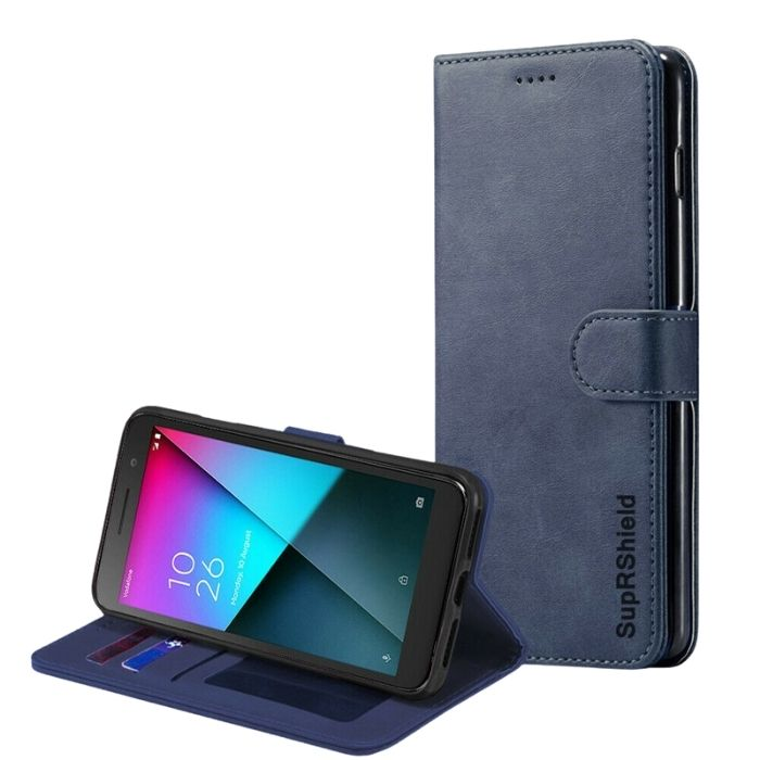 Wallet Case for Vodafone Smart E9 -Navy