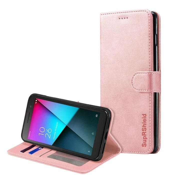 Wallet Case for Vodafone Smart E9 -Rose Gold