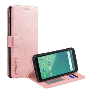 Wallet Case for Telstra Essential Plus 3-Rose Gold