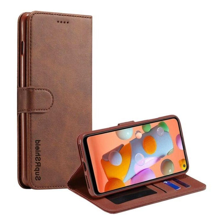 Wallet case for Galaxy A11-Brown