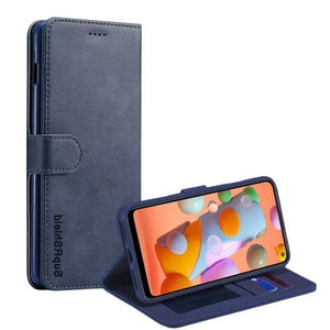 Wallet case for Galaxy A11-Navy