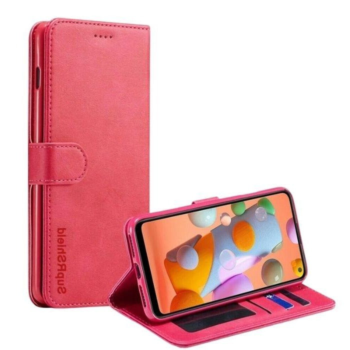 Wallet case for Galaxy A11-Pink