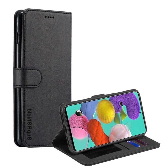 Wallet case for Galaxy A51-Black