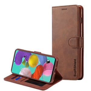 Wallet case for Galaxy A51-Brown