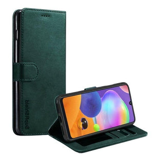 Wallet case for Galaxy A51-Green