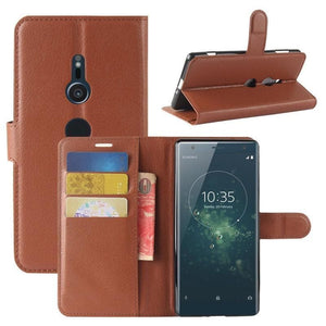 Wallet Case for Sony Xperia XA brown