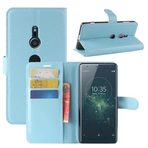 Wallet Case for Sony Xperia XA light blue