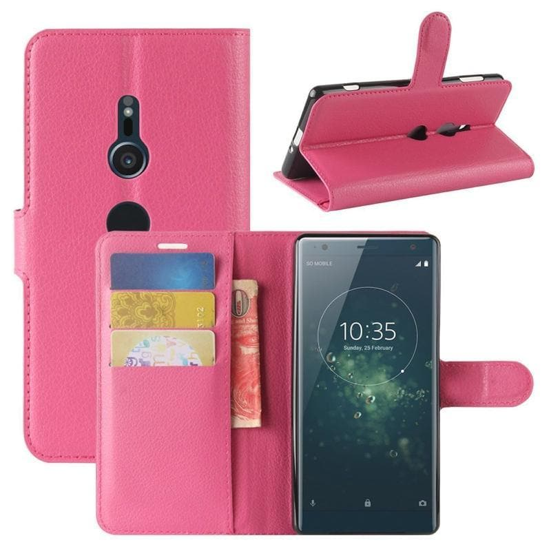 Wallet Case for Sony Xperia XA pink