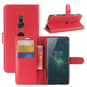 Wallet Case for Sony Xperia XA red