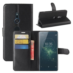 Wallet Case for Sony Xperia XA black