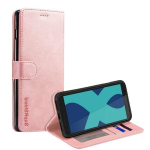 Wallet case for Optus X Power 2-Rose Gold