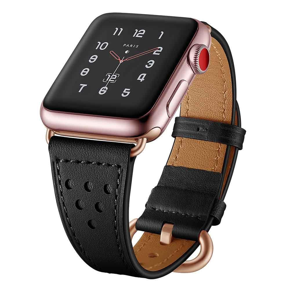 Apple Watch Series 1, 2 & 3 Band - 38mm Faux Leather Strap