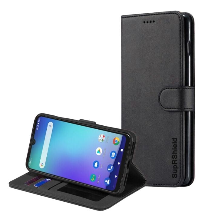 Wallet case for Optus X Wave-Black