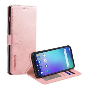 Wallet case for Optus X Wave-Rose Gold