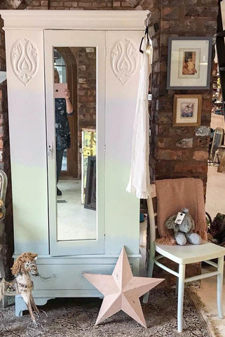 Pastel ombre art deco wardrobe in Fusion Mineral Paint