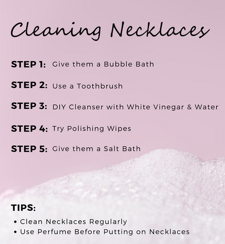 cleaning necklaces