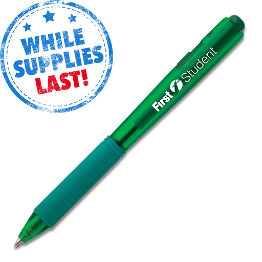 Wow! Retractable Ballpoint Pen (Medium) - Green Barrel