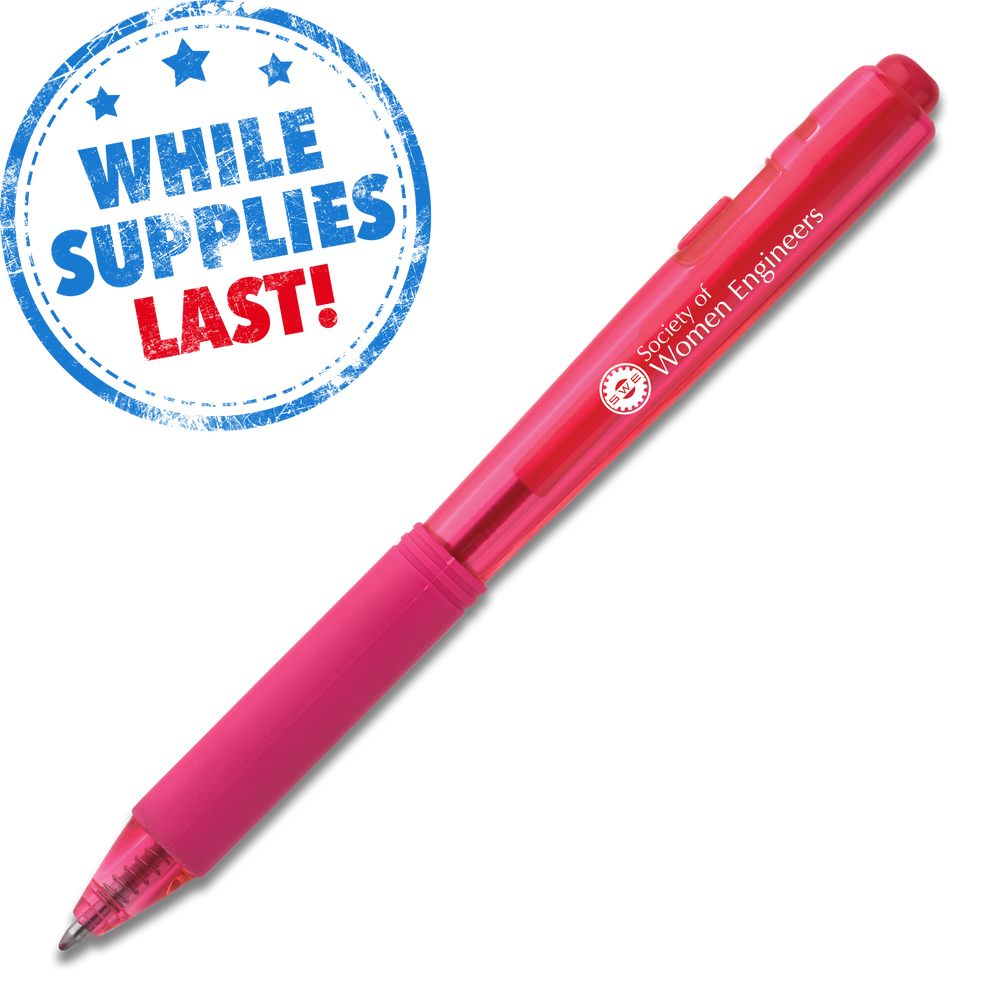Wow! Retractable Ballpoint Pen (Medium) - Pink Barrel