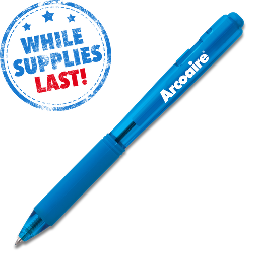 Wow! Retractable Ballpoint Pen (Medium) - Sky Blue Barrel