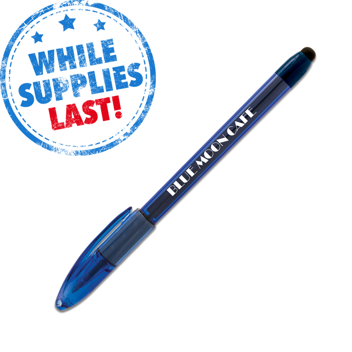 RSVP Stylus 2-in-1 Stylus/Ballpoint Pen - Blue Barrel/Blue Ink (Medium)