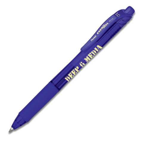 EnerGel-X Retractable Liquid Gel Pen (Bold) - Blue Ink