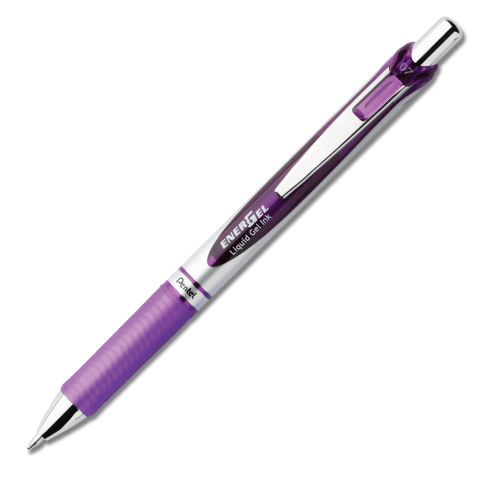 EnerGel RTX Retractable Liquid Gel Pen (Medium) - Violet Barrel
