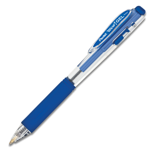 Wow! Gel Retractable Gel Pen (Medium) - Blue Ink