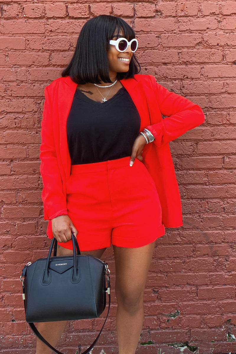 Rouge Cuffed Shorts