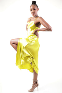 Diana Slip Dress (Lime)
