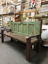 Load image into Gallery viewer, Handcrafted Green Door Bench SKU:855508