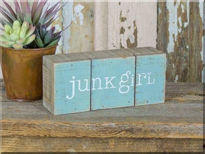 Junk Girl Pallet Sign SKU #802163