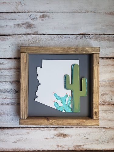 Mutidimensional Arizona Cactus Sign SKU#607513