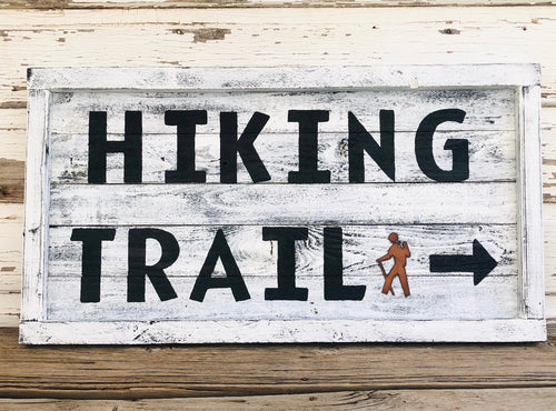 Hiking Trail Wood Sign SKU#923205