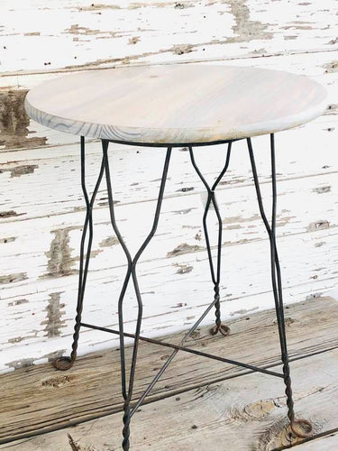 Vintage Ice Cream Stool Table Sku#604106