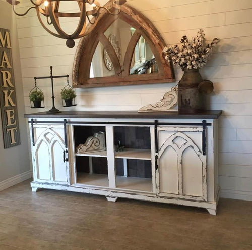 Cathedral Door Custom Console