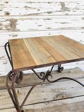 Load image into Gallery viewer, Wood and Iron Patio Table