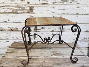 Wood and Iron Patio Table