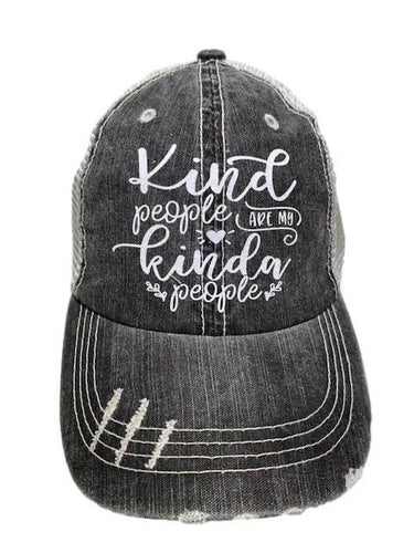 Kind People - Distressed Women's Trucker Hat SKU#095100