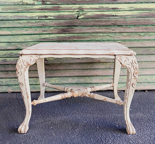 Cream Vintage Side Table