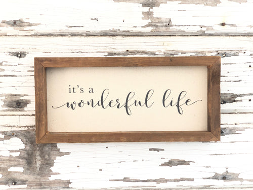It's a Wonderful Life Sign SKU#802515