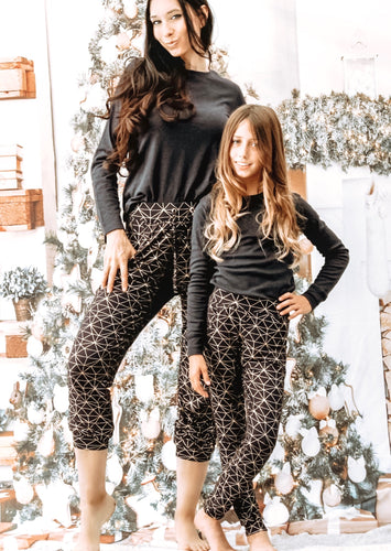 Mommy and Me Navy Foil Joggers SKU#827504