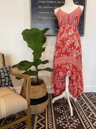 Red Hi-Lo Maxi Dress