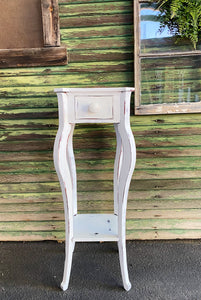 Extra Tall White Side Table