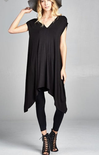 Double V-Tie Neck Tunic-2 Colors