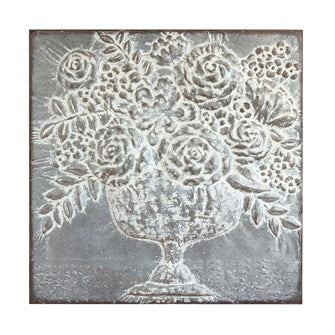 Metal Embossed Floral Wall Decor SKU#414113AT