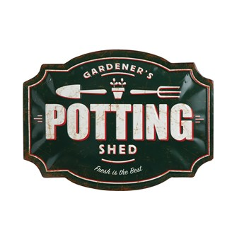 Tin Potting Shed Sign