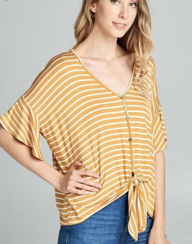Tie-Front Top-2 Colors