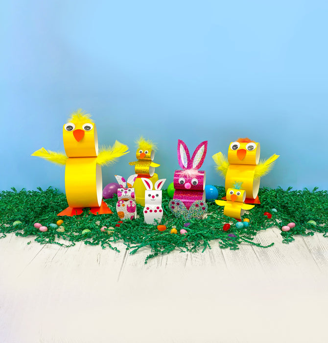 Easter DIYs easy craft projects for kids chicks and bunnies paper